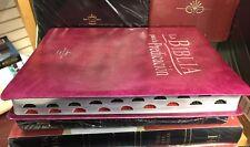 Biblia De La Predicacion Rosa Rojo Con Indice Reina Valera 1960 piel imitacion