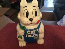 Plastic Cat Treat Cookie Jar