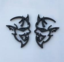 Brand New 2Pcs Black L/R Hellcat Demon Badge Emblem for all cars