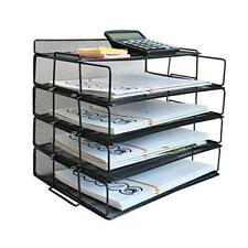 Lucycaz Letter Tray 4 Tier Stackable Paper Tray File Organizer For Desk