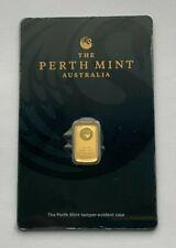 1 GRAM GOLD 999.9 THE PERTH MINT AUSTRALIA BLACK CERTICARD GOLD BAR