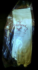 """Vintage White Nylon Gloves by Duchess Size 6-7 1950s 14"""" x 4"""" Unlined Never Worn"""