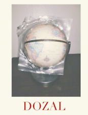 "2001 Replogle Mini Globe Desk Size 6 Inch Tall 3.5"" Base NEW"