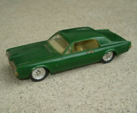 "Vintage 1967 Zee Toys Mercury Cougar Plastic Friction Car Green 6"" Long"