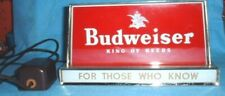 Vintage Budweiser King Of Beers Metal Lighted Sign Works
