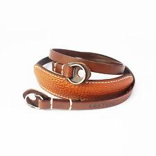 AU LeaTure Brown Leather Camera Lengthened Shoulder Neck Strap Shoulder Padded