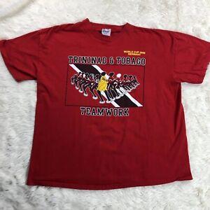 MISPRINT World Cup 2006 Germany Shirt 2XL Red Trinidad Tobago BYDEE Teamwork