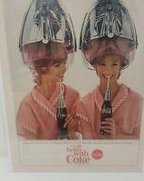 1965 Coke Coca-Cola women beauty hair salon photo vintage print Ad