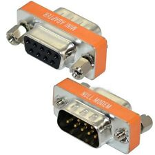 10pcs Mini Null Modem DB9 Female to DB9 COM Male plug Adapter Gender Changer