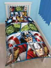 Marvel Vengadores Conjunto de Funda Nórdica Individual Hulk Thor Iron Man