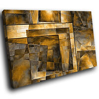 ZAB1211 brown black Modern Retro Canvas Abstract Home Wall Art Picture Prints