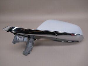 Tesla Model S Front Left Door Mirror White PPSW Scuffed 6005864-00-E