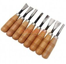 8PCS QUALITY WOOD CARVING CHISELS SET Woodworking Professional Gouges