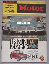 Motor magazine 4/9/1963 featuring Hillman Minx, Husky, NSU Sport Prinz road test