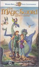 PAL VHS VIDEO TAPE :  THE MAGIC SWORD, QUEST FOR CAMELOT,Gary Oldman, Eric Idle