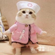Pet Halloween Costume Nurse Dog Cat Puppy Kitty Hospital Pink