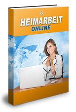 HEIMARBEIT ONLINE -Im Web Geld verdienen -Ebook(PDF& Word)- PLR/Reseller-Projekt