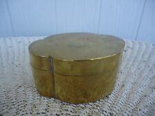 vintage antique  solid brass hinged trinket box jewellery