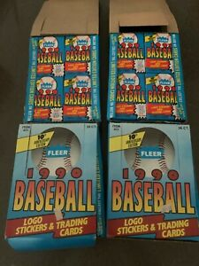 LOT of 4 Fleer 1990 Baseball Card Wax Box 36 Pack Jose Uribe Ken Griffey Jr
