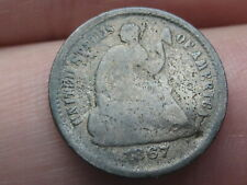 1867 S Seated Liberty Half Dime- Good Details