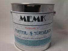 (9,99€/L.) Fenster- & Türenlack  Weisslack  MATT  Weiss Weiß Lack 2,5 Liter