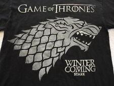 Men's Game of Thrones HBO Winter is Coming Stark Wolf  T- Shirt (Medium)