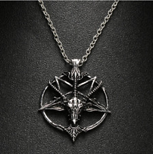 BAPHOMET Necklace - black metal biker satanic devil demon evil lucifer