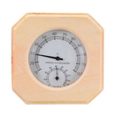 New listing Wood Thermometer Hygrothermograph Hygrometer Thermometer Humidity For Sauna Room