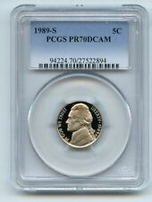 1989 S 5C Jefferson Nickel Proof PCGS PR70DCAM