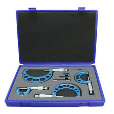 """4 Pc C-Type Outside Micrometer Set 0 -1"""", 1-2"""", 2-3"""" & 3-4"""""""