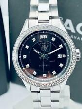 Estate ~ Ladies TAG Heuer Carrera Automatic Link Watch Diamond Bezel Dial WV2412