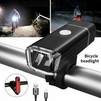 VTT vélo avant lumière / arrière lampe arrière vélo vélo USB rechargeable LED BR