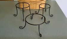 Longaberger Wrought Iron set of 3 Risers Stands Host Booking NEW in box