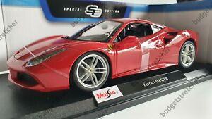 NEW MAISTO 1:18 Scale Diecast Model Car  -  Ferrari 488 GTB  -  Red