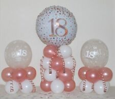 18th Birthday Rose Gold 3 Pack Party Set Table Balloon Decoration Display Kit