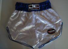 De Muay Thai Shorts White Blue Size 36-40