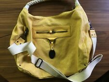 Kenneth Cole reaction Faux Leather Large Yellow Shoulder Bag