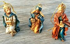 Christmas Ornaments Set of 3 Wise Men Nativity Resin Figurine Tree Ornaments