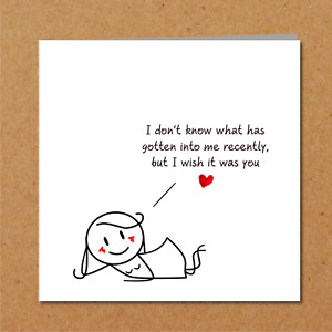 Naughty rude valentines day / birthday card boyfriend - funny cute love you