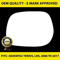Daihatsu Terios (2006 to 2017 ) Wing Mirror Glass LEFT HAND ( UK Passenger Side)