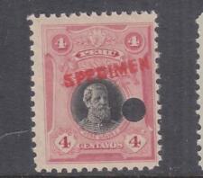 PERU, 1918 Galvez, 4c. Black & Rose, ABN Co. Proof, SPECIMEN, small punch hole