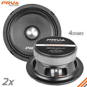 "2x PRV Audio 6MR400-4 Bullet Midrange 6.5"" Speakers 4 Ohms PRO Car Audio 400W"