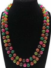 New Charming 8/10/12mm Multicolor Tourmaline Gemstone Beads Necklace 18-36''