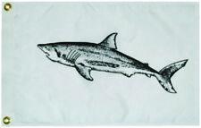 "Boat Marine Fisherman's Mako Shark Catch Flag 12"" x 18"" Nylon Construction"