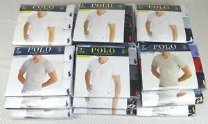 Brand New Polo Ralph Lauren V-Neck Slim & Classic Fit Three 3 Pack T Shirts S-XL