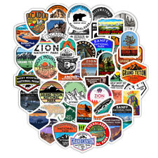 New listing 50Pcs National Park Zoo Icon Cartoon Stickers For Suitcase Skateboard Laptop ZG