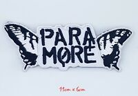 New Paramore Embroidered patch iron Sew on black white badge #1031