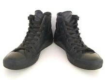 Converse All Star All Black Hi Leather Shoes 9 US EU 42.5 Unisex