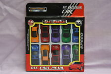 10 piece Set Die Cast Metal Fast Wheels Toy Super Cars Various Styles/Colours