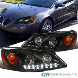 For 05-10 Pontiac G6 Black Projector Headlights Head Lamps Lights w/ LED DRL